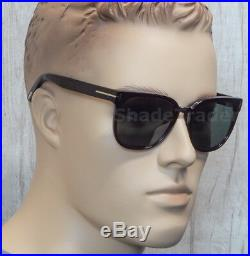 Tom Ford Rock Sunglasses Shiny Dark Red Havana Torte Grey Green Ft 0290 52n