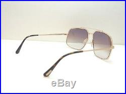 Tom Ford Ronnie TF439 48F Gold Brown Gradient Aviator Sunglasses 60 13 140
