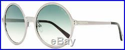 Tom Ford Round Sunglasses TF572 Ava-02 14W Ruthenium/Havana 57mm FT0572