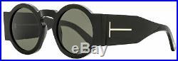 Tom Ford Round Sunglasses TF603 Tatiana-02 01A Black 47mm FT0603
