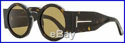 Tom Ford Round Sunglasses TF603 Tatiana-02 52J Havana 47mm FT0603