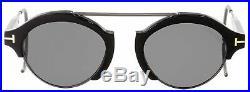 Tom Ford Round Sunglasses TF631 Farrah-02 01A Shiny Black 49mm FT0631