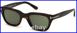 Tom Ford SNOWDON FT 0237 Dark Havana/Grey Green (52N) Sunglasses