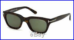 Tom Ford SNOWDON FT 0237 shiny dark havana/grey green (52N) Sunglasses 52mm