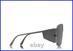 Tom Ford SPECTOR FT0708 TF 708 08A Dark Ruthenium Grey Lens Shield Sunglasses
