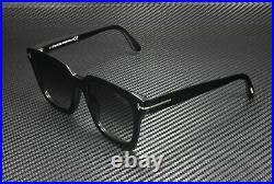 Tom Ford Sari FT0690 01D Shiny Black Smoke Polarized 52 mm Women's Sunglasses