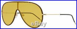 Tom Ford Shield Sunglasses TF671 Mack 48E Brown/Gold 137mm FT0671