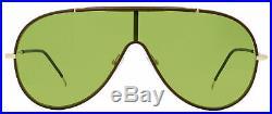 Tom Ford Shield Sunglasses TF671 Mack 48N Brown/Gold 137mm FT0671