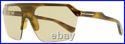 Tom Ford Shield Sunglasses TF797 Razor 55E Anber Havana 0mm FT0797