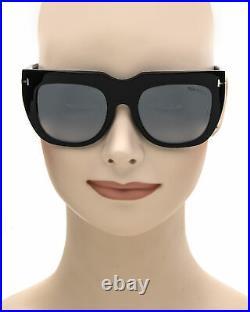 Tom Ford Shiny Black & Smoke Square Sunglasses FT0687-5101C