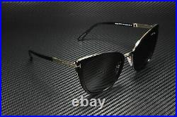 Tom Ford Simona FT0717 01A Shiny Black Smoke 57 mm Women's Sunglasses
