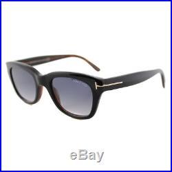Tom Ford Snowdon FT0237 TF 237 05B Black Plastic Rectangle Sunglasses 50mm