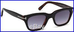 Tom Ford Snowdon TF 0237 05B 52mm Sunglasses Black / Smoke Gradient Lens