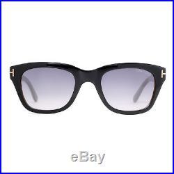 Tom Ford Snowdon TF 237 05B 50mm Shiny Black/Gray Gradient Men Square Sunglasses