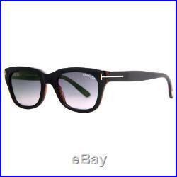 Tom Ford Snowdon TF 237 05B 52mm Black/Gray Square Sunglasses