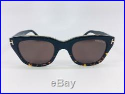 Tom Ford Snowdon TF0237 05J Black Havana / Brown Gradient 50mm Sunglasses 237