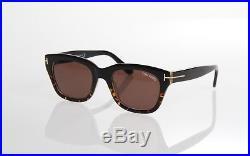 Tom Ford Snowdon Tf237 05j James Bond Spectre Black Havana Retro Sunglasses
