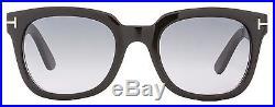 Tom Ford Square Sunglasses TF198 Campbell 01B Shiny Black/Gold FT0198