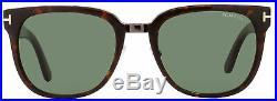 Tom Ford Square Sunglasses TF290 Rock 52N Red Havana/Gunmetal 55mm FT0290