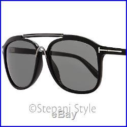 Tom Ford Square Sunglasses TF300 Cade 01A Black/Ruthenium FT0300