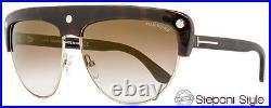 Tom Ford Square Sunglasses TF318 Liane 52G Havana/Rose Gold FT0318