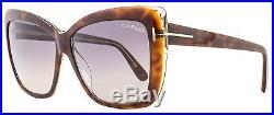 Tom Ford Square Sunglasses TF390 Irina 53F Darl Havana/Crystal FT0390