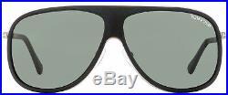 Tom Ford Square Sunglasses TF462 Chris 02N Matte Black/Ruthenium 62mm FT0462