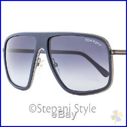 Tom Ford Square Sunglasses TF463 Quentin 92W Matte Navy Blue FT0463