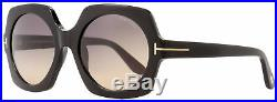 Tom Ford Square Sunglasses TF535 Sofia 01B Black/Gold 57mm FT0535
