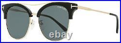 Tom Ford Square Sunglasses TF549K 01A Black/Gold 56mm FT0549