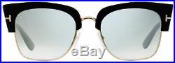 Tom Ford Square Sunglasses TF554 Dakota-02 01C Black/Gold 55mm FT0554