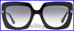Tom Ford Square Sunglasses TF610 Jasmine-02 01B Black/Gold 53mm FT0610