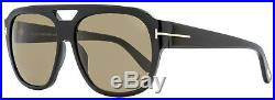 Tom Ford Square Sunglasses TF630 Bachardy-02 01J Shiny Black 61mm FT0630
