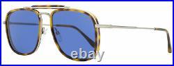 Tom Ford Square Sunglasses TF665 Huck 53V Ruthenium/Blonde Havana 56mm FT0665