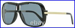 Tom Ford Square Sunglasses TF800 Caine 01A Black/Gold 62mm FT0800