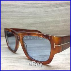 Tom Ford Stephen TF 493 TF493 Sunglasses Light Havana 53V Authentic 54mm