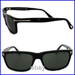 Tom Ford Sunglasses 0337 Hugh 01N Shiny Black Green Polarized