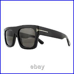 Tom Ford Sunglasses 0711 Fausto 01A Shiny Black Smoke Gray