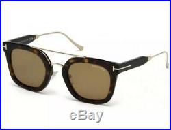 Tom Ford Sunglasses 541 Alex-02 52E Dark Havana Gold Brown Lens Women Authentic