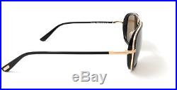 Tom Ford Sunglasses FT0340 28J Black Gold/Brown Mens 56X18X140