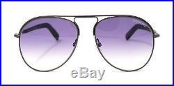 Tom Ford Sunglasses FT0448 48Z Shiny Gunmetal Dark Brown / Purple Gradient