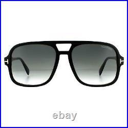 Tom Ford Sunglasses Falconer FT0884 01B Shiny Black Gray Gradient