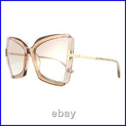 Tom Ford Sunglasses Gia FT0766 57G Shiny Beige Brown Mirror