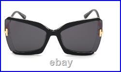Tom Ford Sunglasses Gia TF766 01C Black Crystal / Smoke RRP-£345