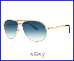 Tom Ford Sunglasses Marko TF 144 Gold Blue Gradient Men 28W James Bond Skyfall