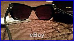 Tom Ford Sunglasses TF 434 Lindsey Sunglasses 01D Black 58mm