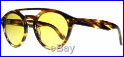 Tom Ford Sunglasses TF0537 48E Clint Striped Havana Yellow Round Frame FastShip