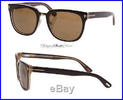 Tom Ford Sunglasses TF290 50J ROCK Square Wayfare Dark Brown Lens Mens Womens