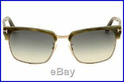 Tom Ford Sunglasses TF367 60B River Beige Horn / Gradient Smoke 57-18-145
