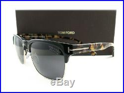 Tom Ford Sunglasses TF386 Louis 01D Black Havana Polarized FT0386/S Authentic